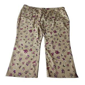Woman Within Floral Bootcut Jeans Size 40W NWOT